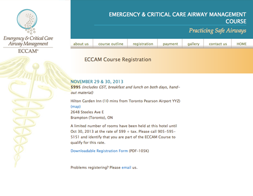 Critical Airway website